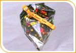 La gerbe de fleurs a dominante jaune/orange
