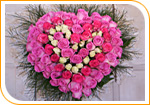 Le coeur de roses