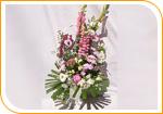 La composition de fleurs coupées