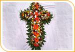 La croix a dominante jaune/orange